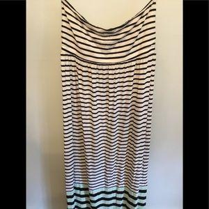 Loft Strapless Maxi Tube Dress M